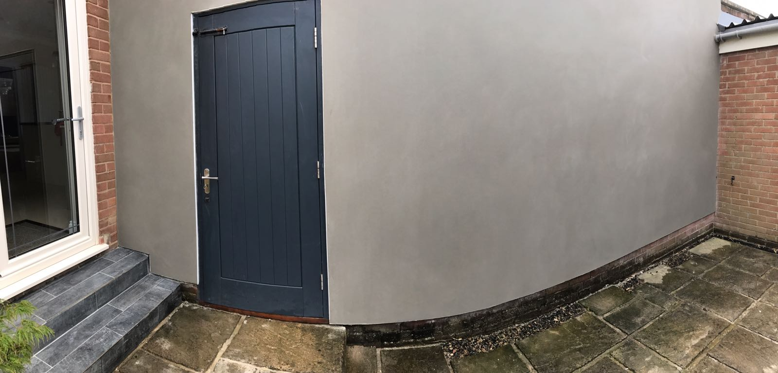 Garden wall render | J B Plastering and Drylining