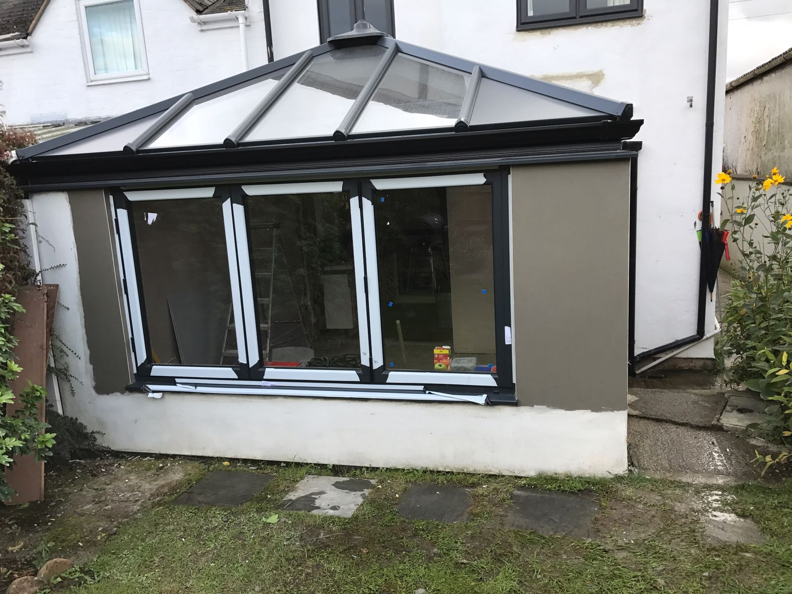 Conservatory render in Gloucestershire