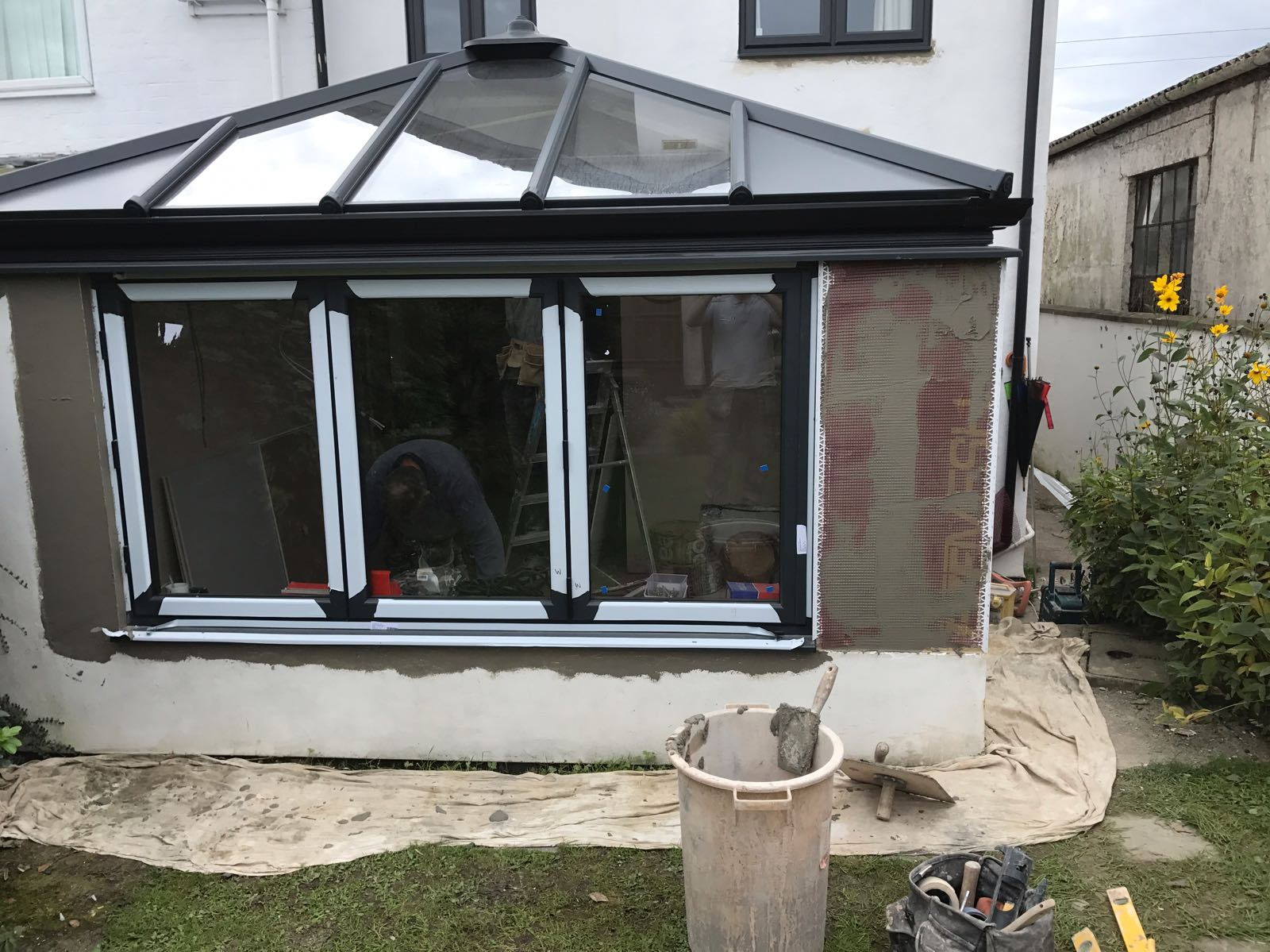 Conservatory render in Gloucester